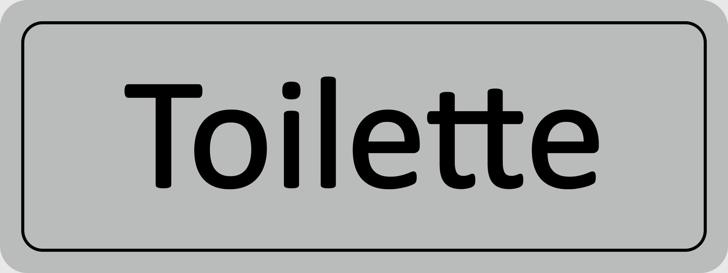 Türschild Toilette selbstklebend 45 x 120 mm – Bild 1