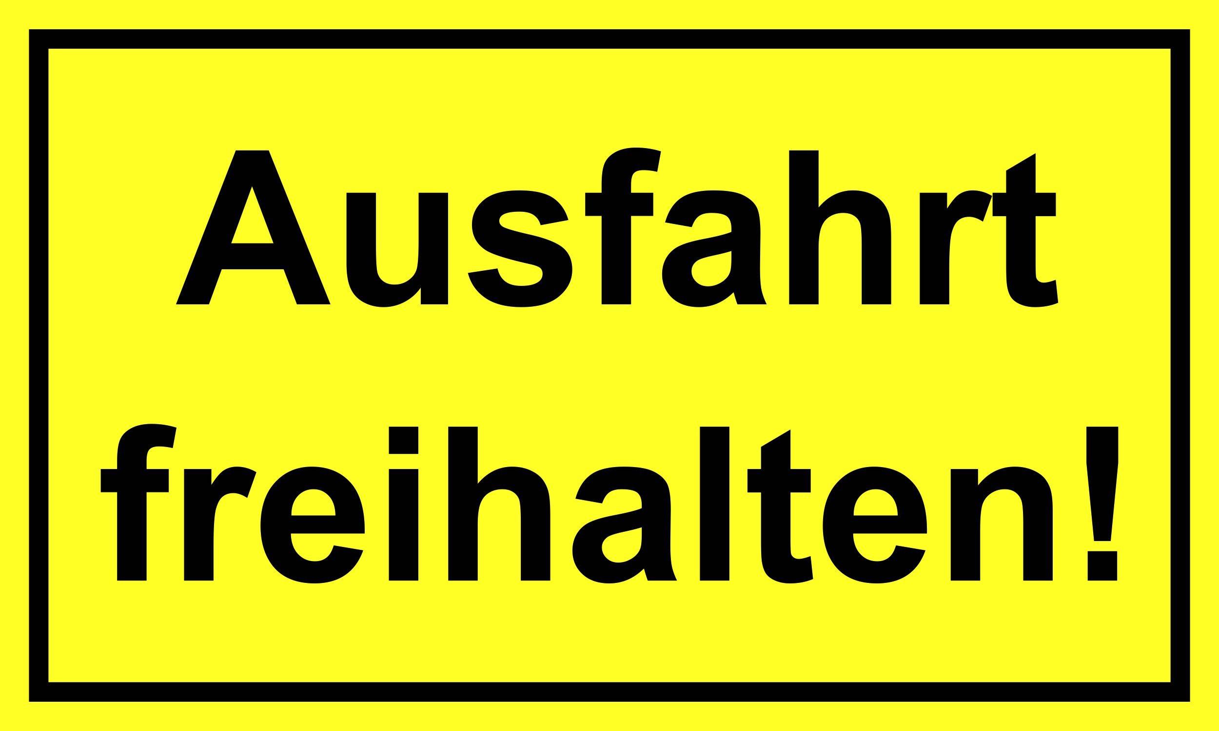 Ausfahrt freihalten! 150 x 250 mm Warn- Hinweis- und Verbotsschild PST-Kunststoff – Bild 1