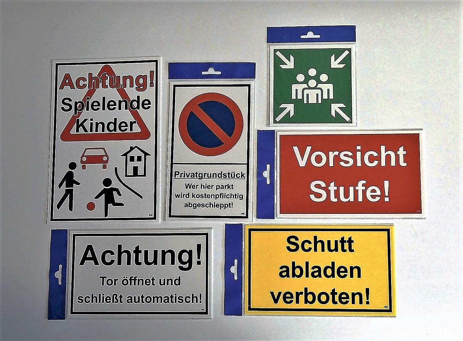 Unbefugten ist der Zutritt verboten! 150 x 250 mm Warn- Hinweis- und Verbotsschild PST-Kunststoff – Bild 3