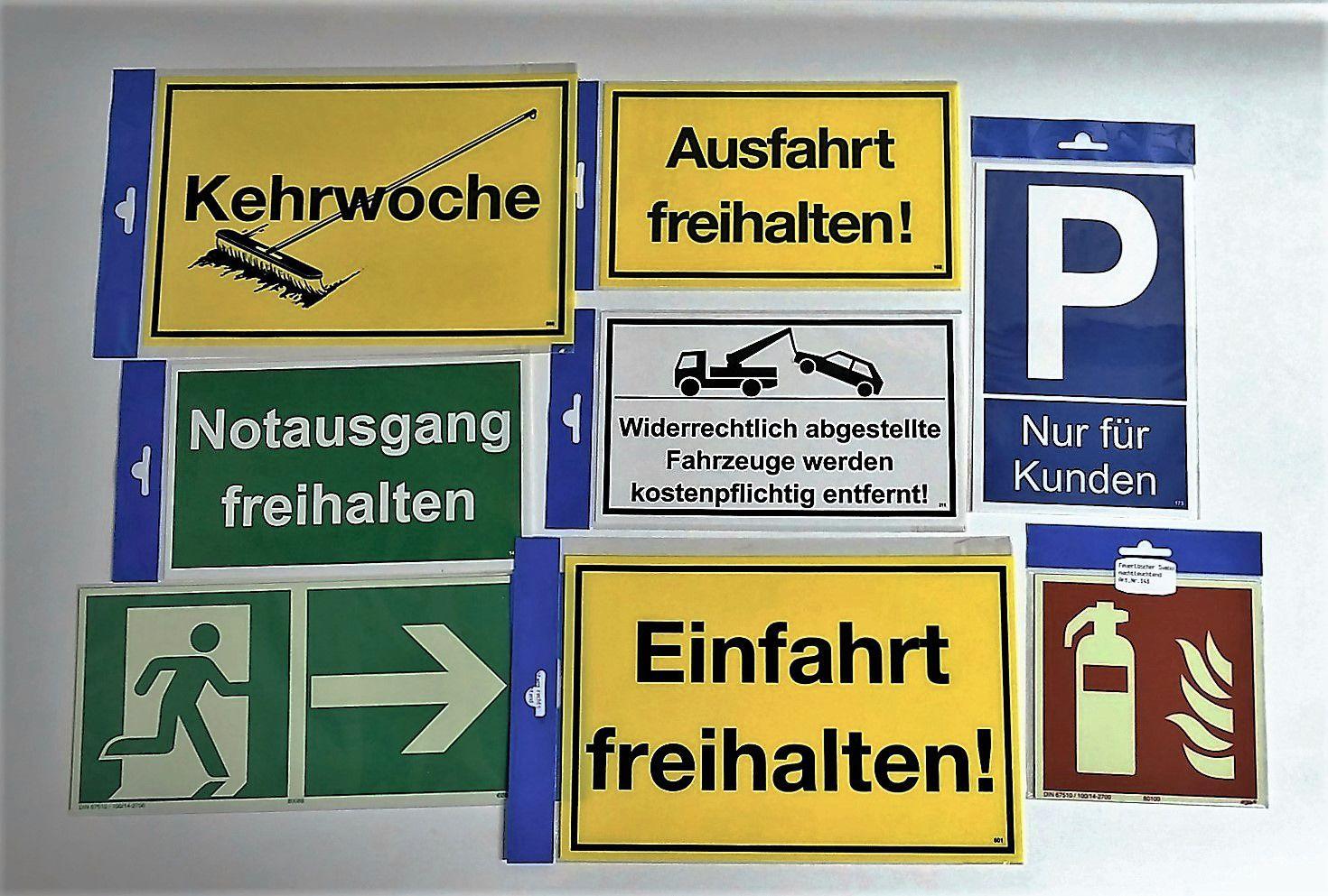 Einfahrt freihalten - auch gegenüber - 150 x 250 mm Warn- Hinweis- und Verbotsschild PST-Kunststoff – Bild 2