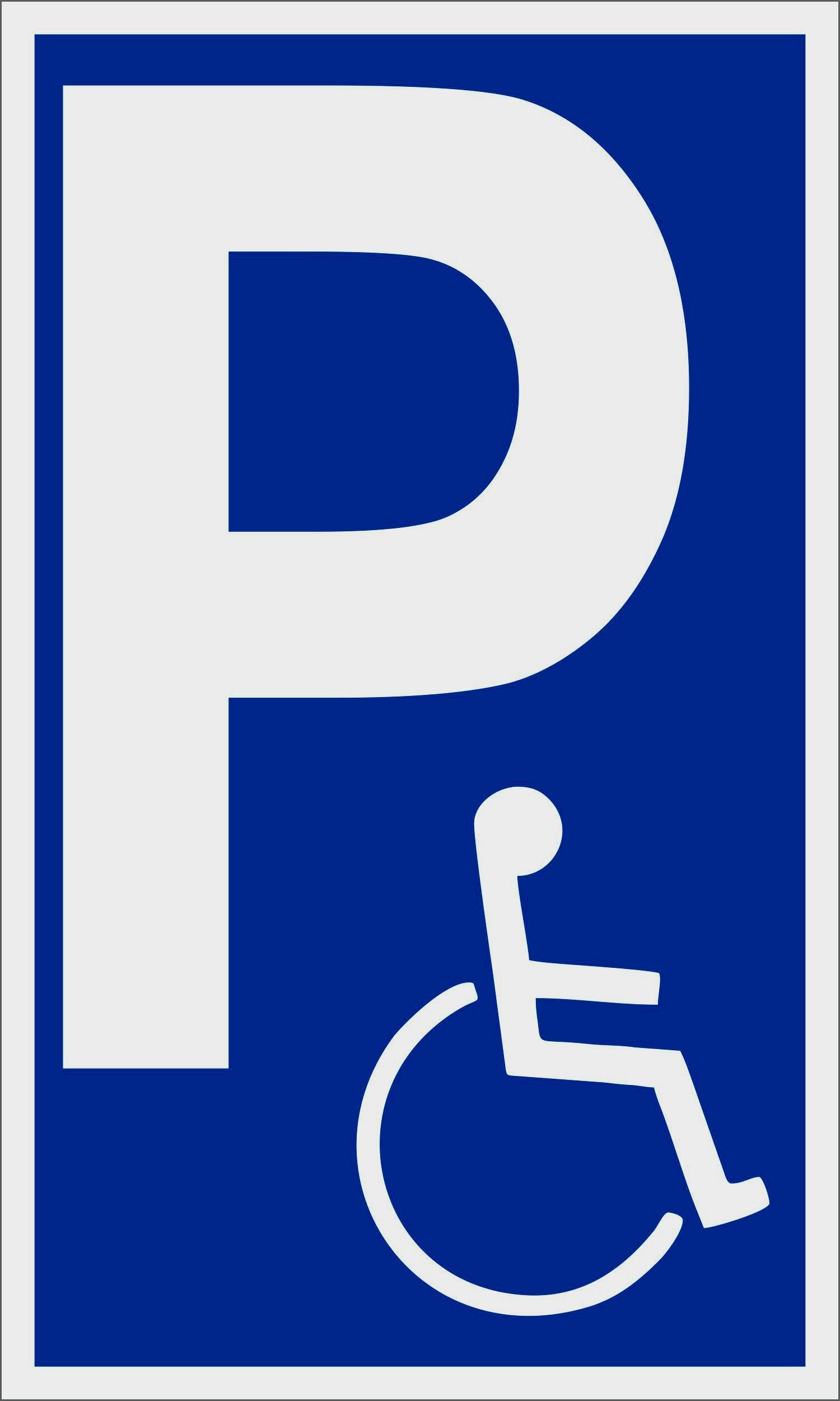 Behindertenparkplatz 250 x 150 mm Warn- Hinweis- und Verbotsschild PST-Kunststoff – Bild 1