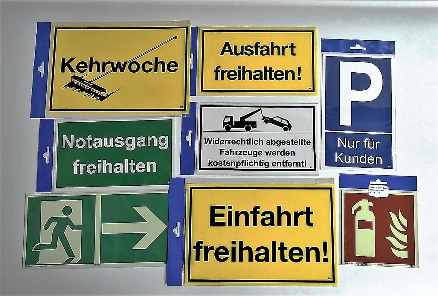 Feuerlöscher 148 x 148 mm nachleuchtend Schild/ PST-Kunststoff  – Bild 2