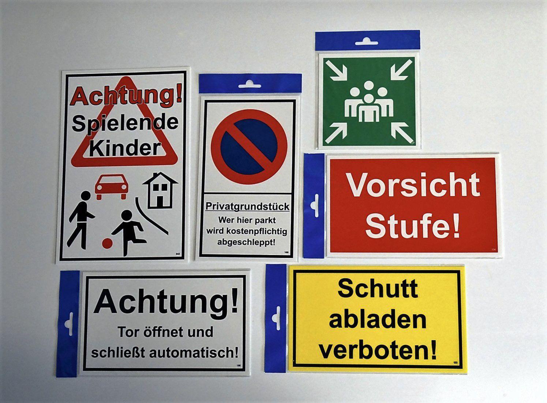 Betreten auf eigene Gefahr! 200 x 300 mm Warn- Hinweis- und Verbotsschild PST-Kunststoff – Bild 3
