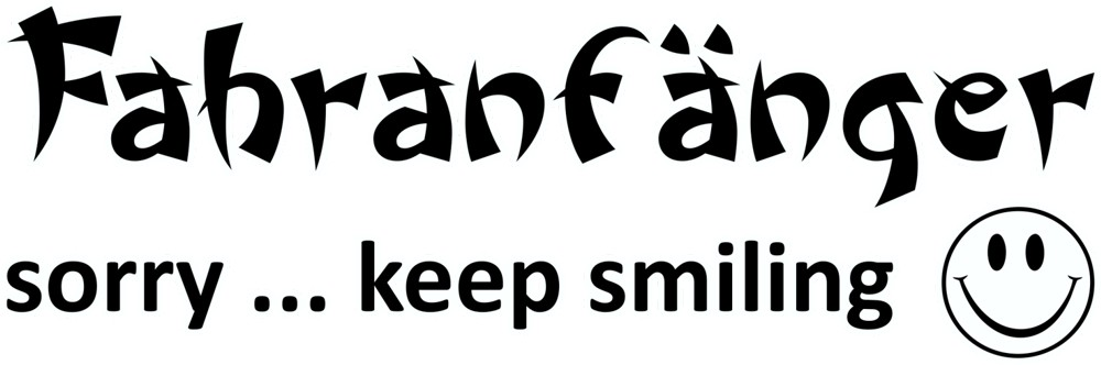 Aufkleber Fahranfänger sorry ... keep smiling 70 x 190 mm – Bild 1