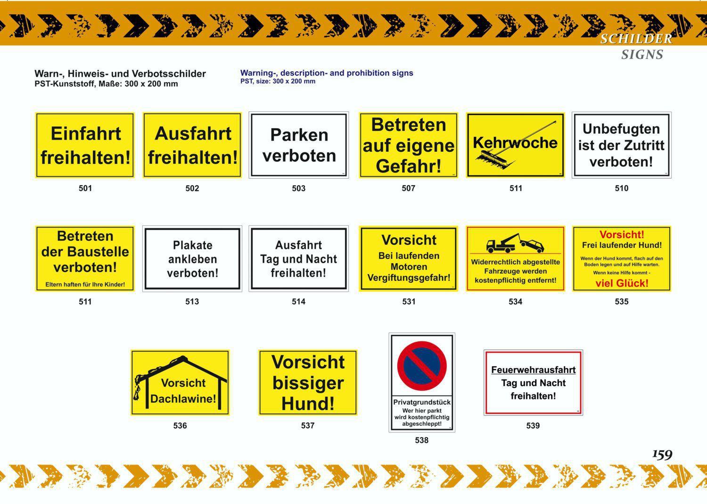 Parken auf eigene Gefahr! 150 x 250 mm Warn- Hinweis- und Verbotsschild PST-Kunststoff – Bild 6