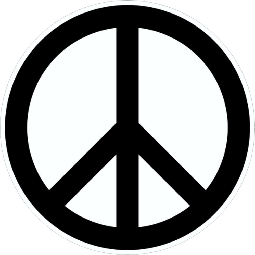 Autocollant Peace-signe Ø 60 mm – Bild 1