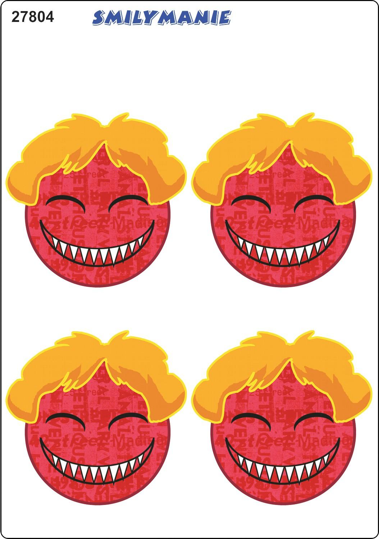 Autocollant Smily avec cheveux set de 4 150 x 105 mm – Bild 1
