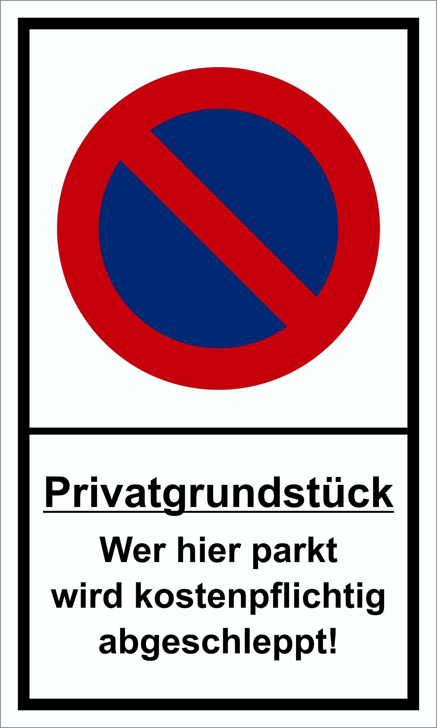 Privatgrundstück ... 250 x 150 mm Warn- Hinweis- und Verbotsschild PST-Kunststoff