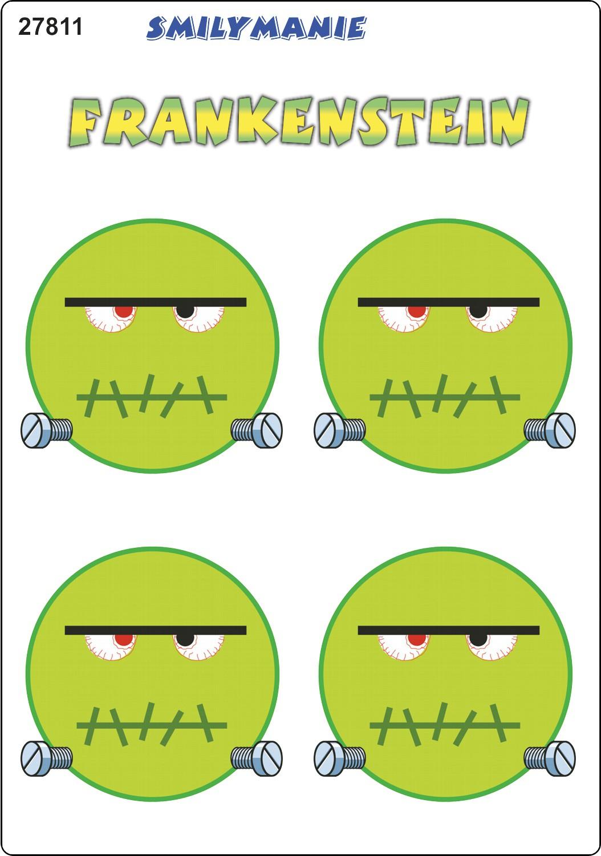 Aufkleber Smily Frankenstein 4er-Set 150 x 105 mm – Bild 1