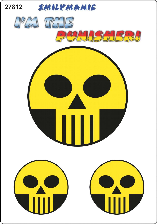 Sticker Smily I´m the punisher! set of 3 150 x 105 mm – Bild 1