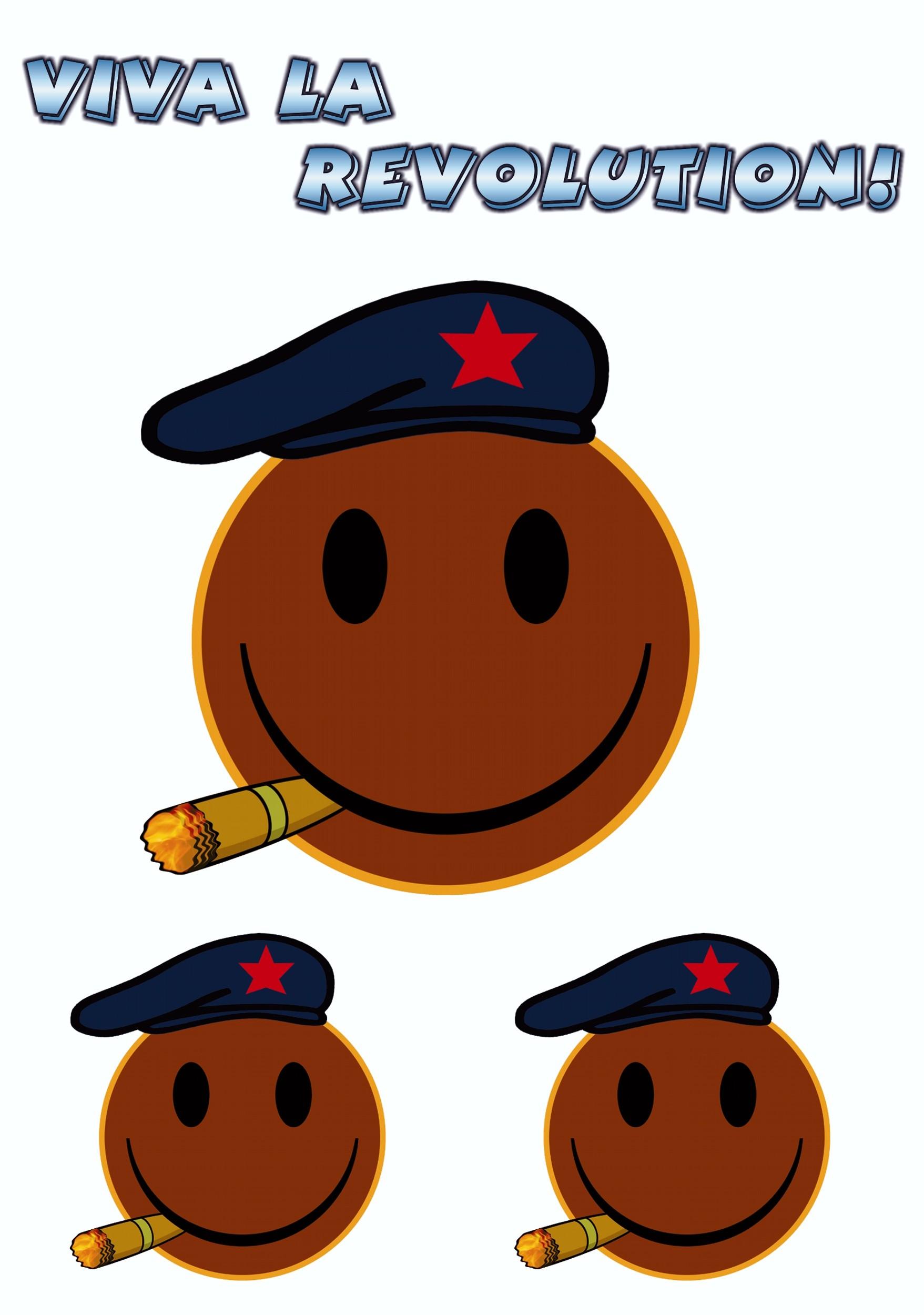 Aufkleber Smily Viva La Revolution! 3er-Set 150 x 105 mm – Bild 1