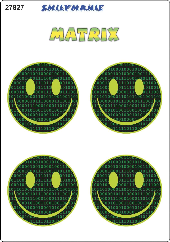 Sticker Smily Matrix set of 4 150 x 105 mm – Bild 1