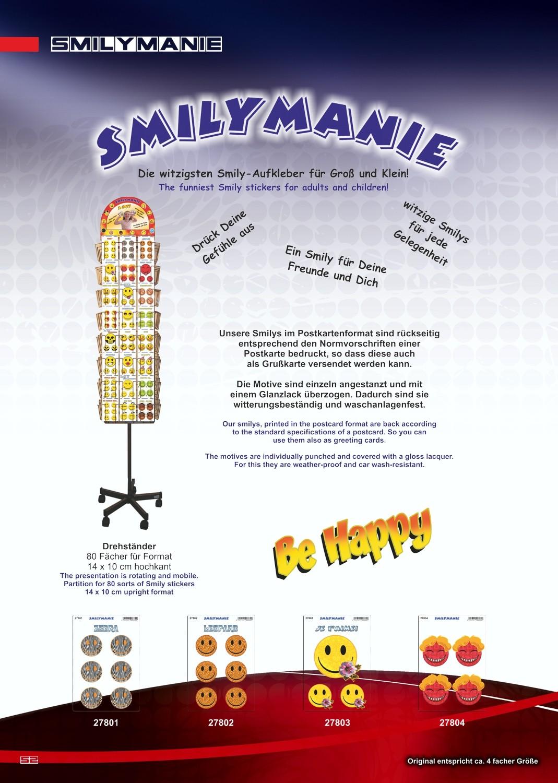 Sticker Smily Matrix set of 4 150 x 105 mm – Bild 4
