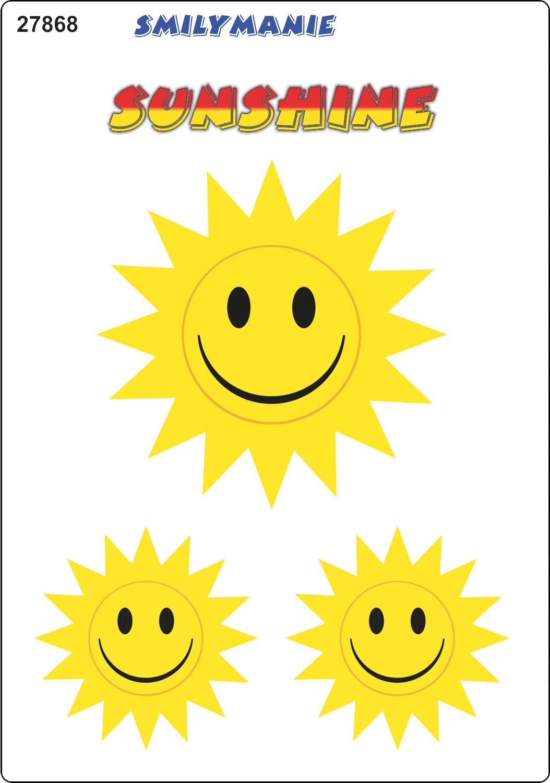 Aufkleber Smily Sunshine 3er-Set 150 x 105 mm