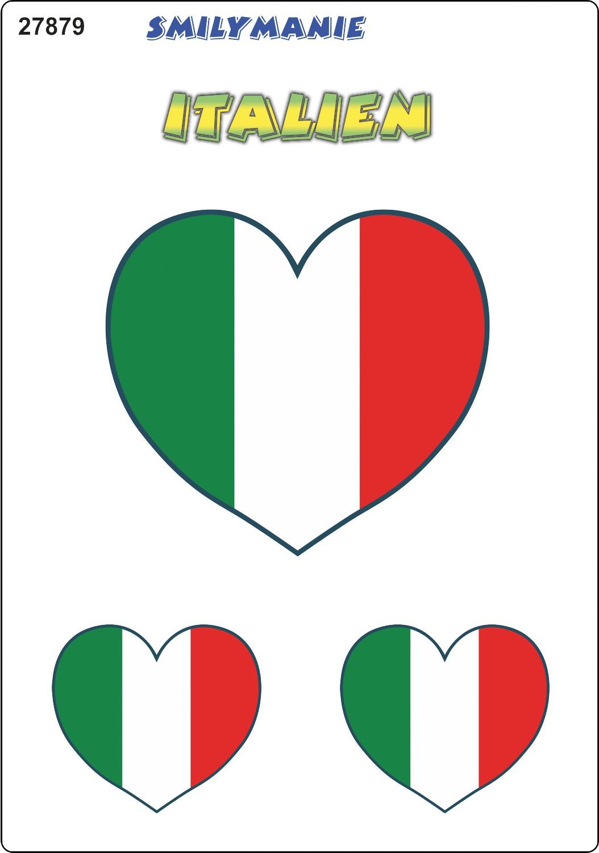 Aufkleber Herz Italien 3er-Set 150 x 105 mm