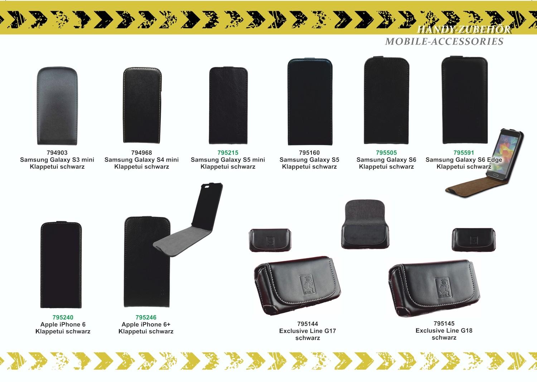 2GO Klappetui für Samsung Galaxy S6 Edge Leder – Bild 3