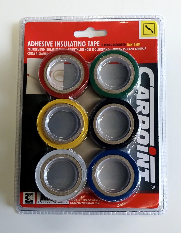 Adhesive insulating tape set of 6 each 19 mm x 5 m – Bild 2