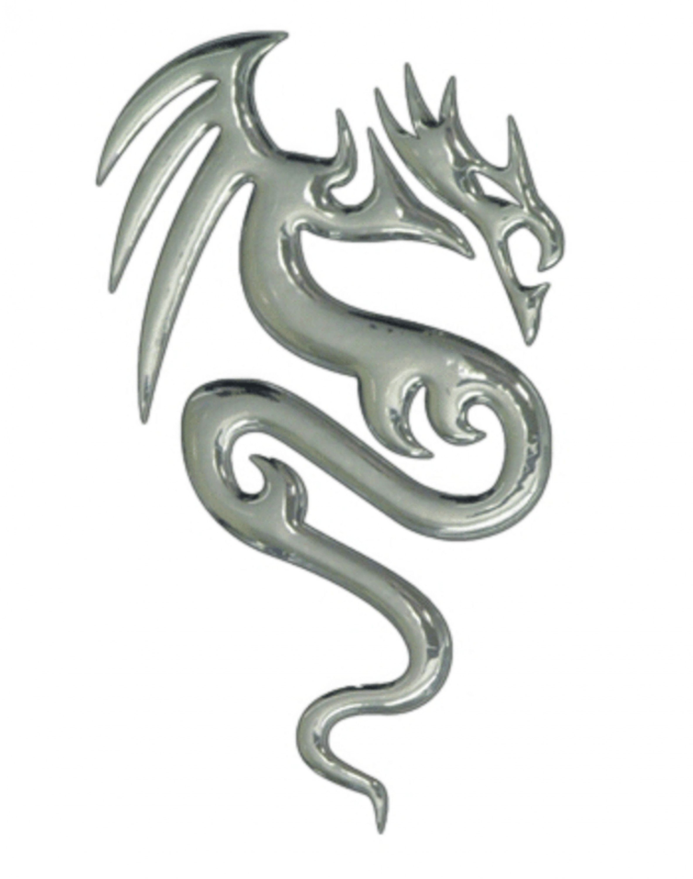 3D-Chrome-Sticker dragon 100 x 60 mm – Bild 1
