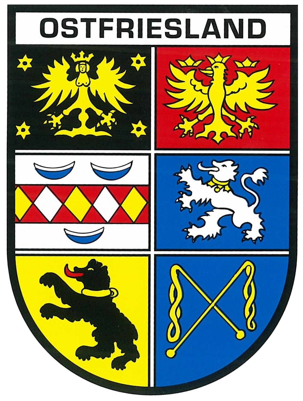 Aufkleber Wappen Ostfriesland 115 x 90 mm – Bild 1