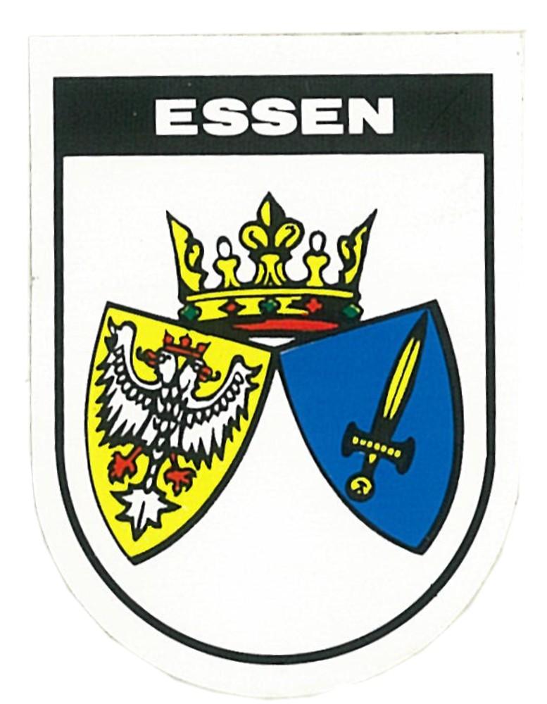 Aufkleber Wappen Essen 60 x 45 mm – Bild 1