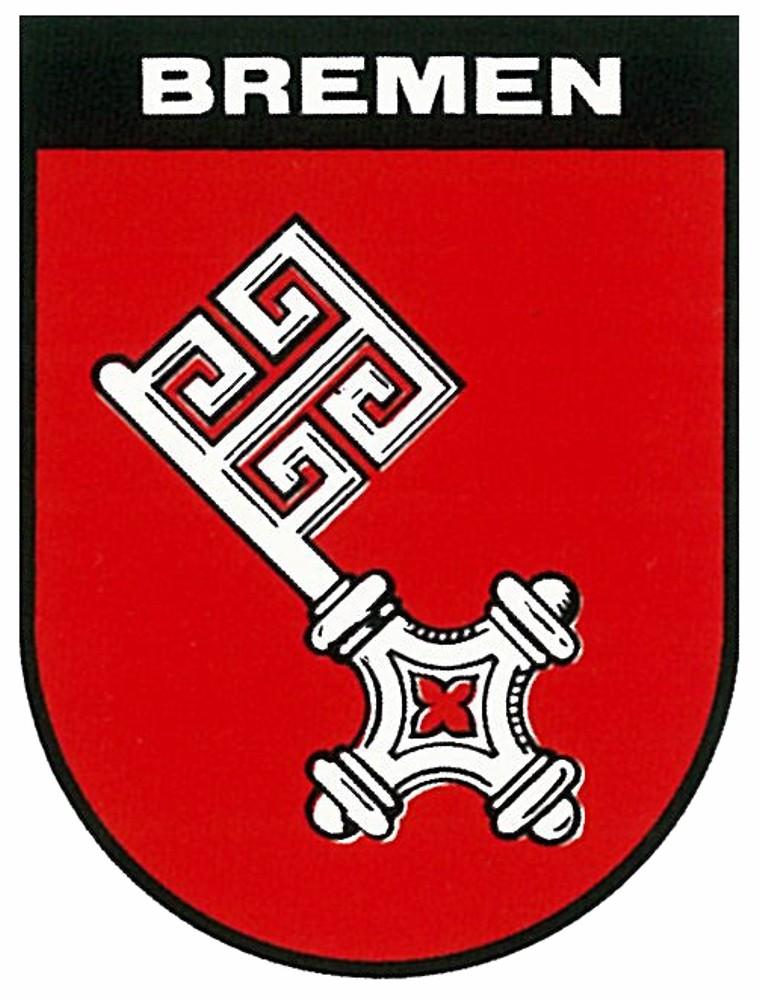 Aufkleber Wappen Bremen 60 x 45 mm – Bild 1