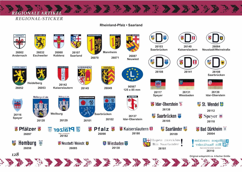 Aufkleber Pfalz mit Wappen Rheinland/Pfalz 50 x 225 mm – Bild 6