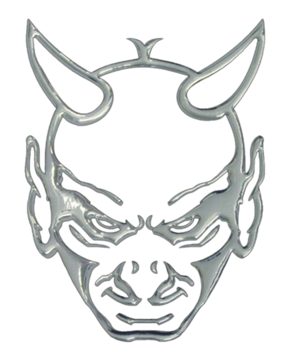 3D-Chrome-Sticker Devilhead 200 x 145 mm