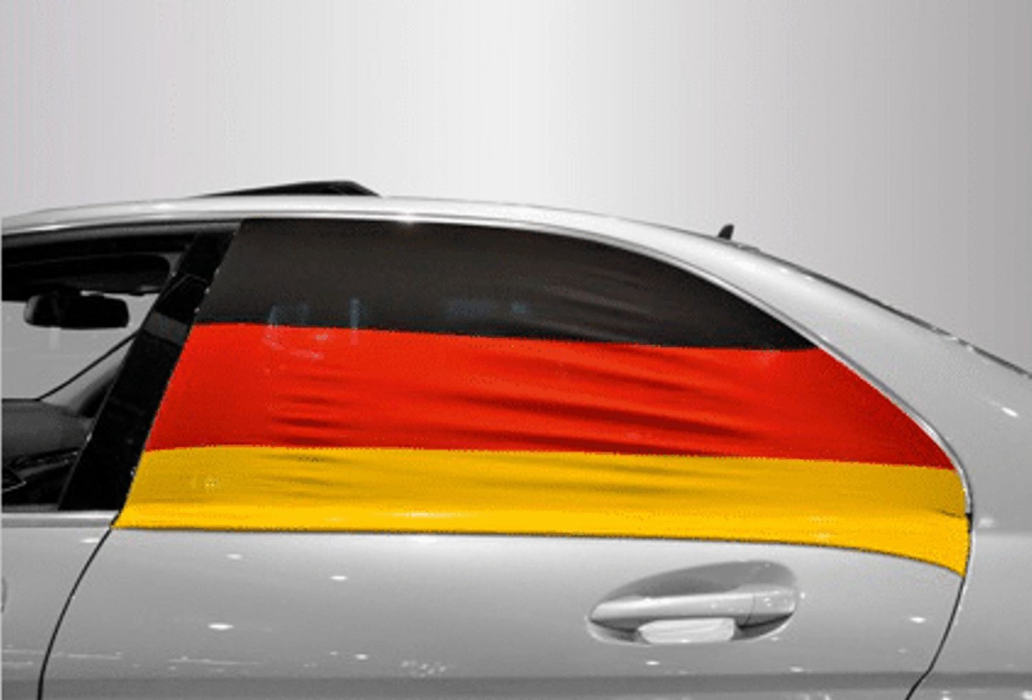 Soccar car window flag set of 2 Germany fanarticle EM – Bild 1