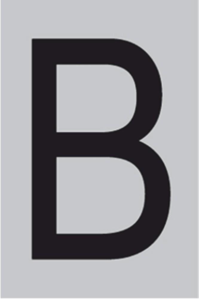 Metallbuchstabe B selbstklebend 100 x 60 mm – Bild 1