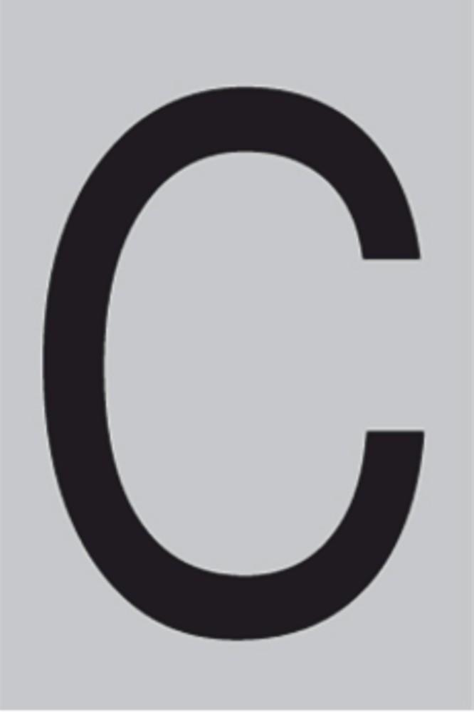 Metallbuchstabe C selbstklebend 100 x 60 mm – Bild 1