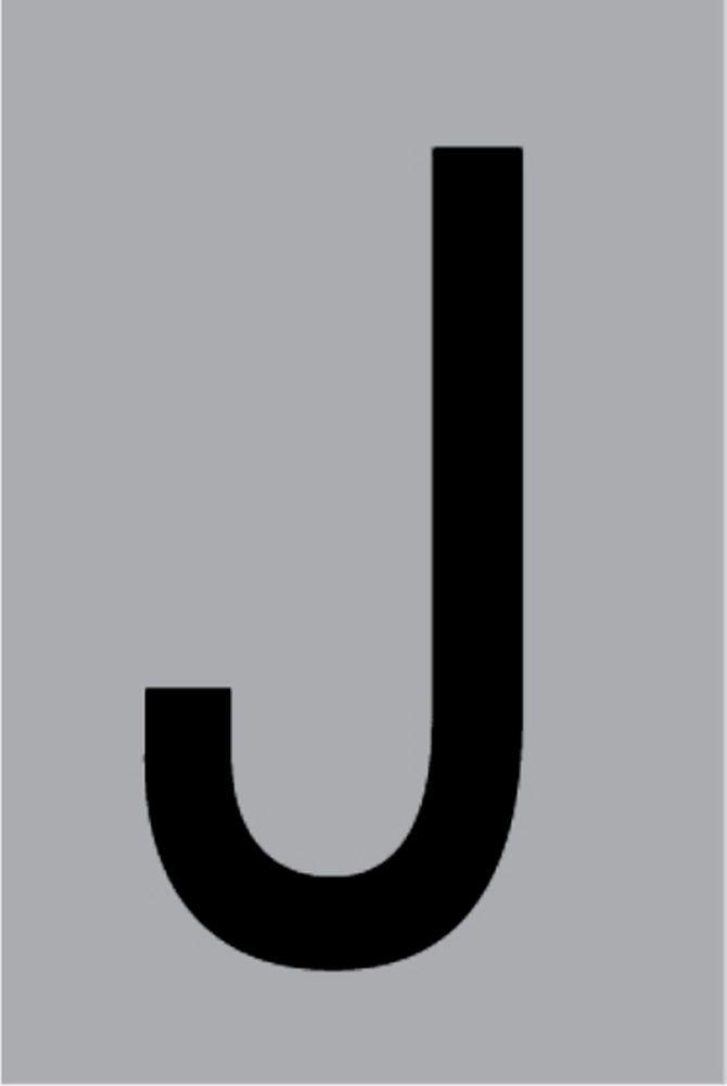 Metallbuchstabe J selbstklebend 100 x 60 mm – Bild 1