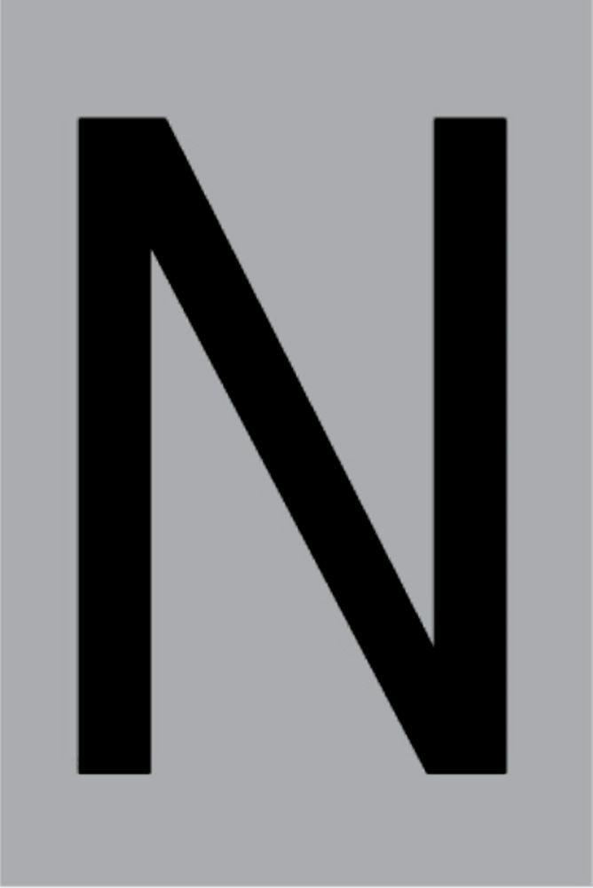 Metallbuchstabe N selbstklebend 100 x 60 mm – Bild 1