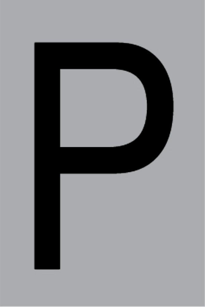Metallbuchstabe P selbstklebend 100 x 60 mm – Bild 1