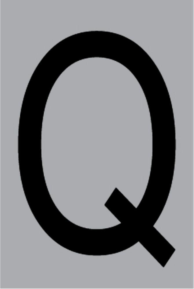 Metallbuchstabe Q selbstklebend 100 x 60 mm – Bild 1
