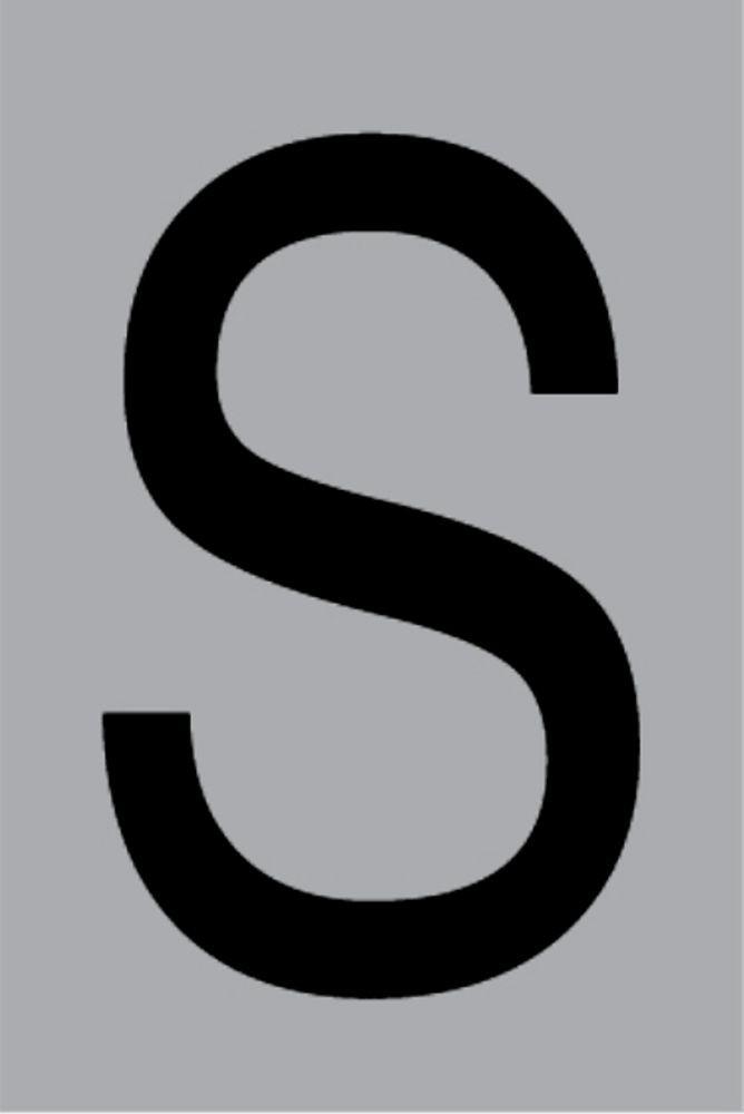 Metallbuchstabe S selbstklebend 100 x 60 mm – Bild 1