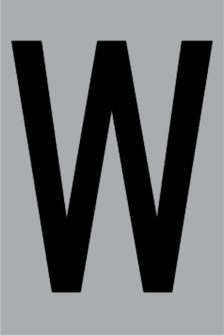 Metallbuchstabe W selbstklebend 100 x 60 mm – Bild 1