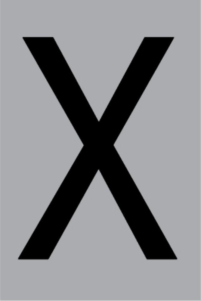 Metallbuchstabe X selbstklebend 100 x 60 mm – Bild 1