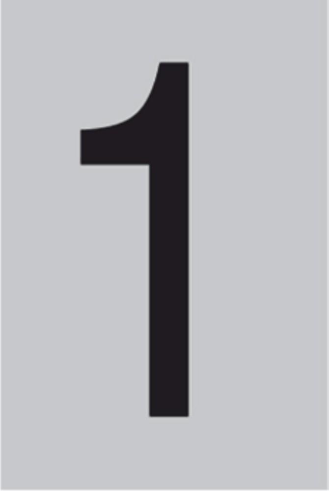 Metallziffer 1 selbstklebend 100 x 60 mm – Bild 1