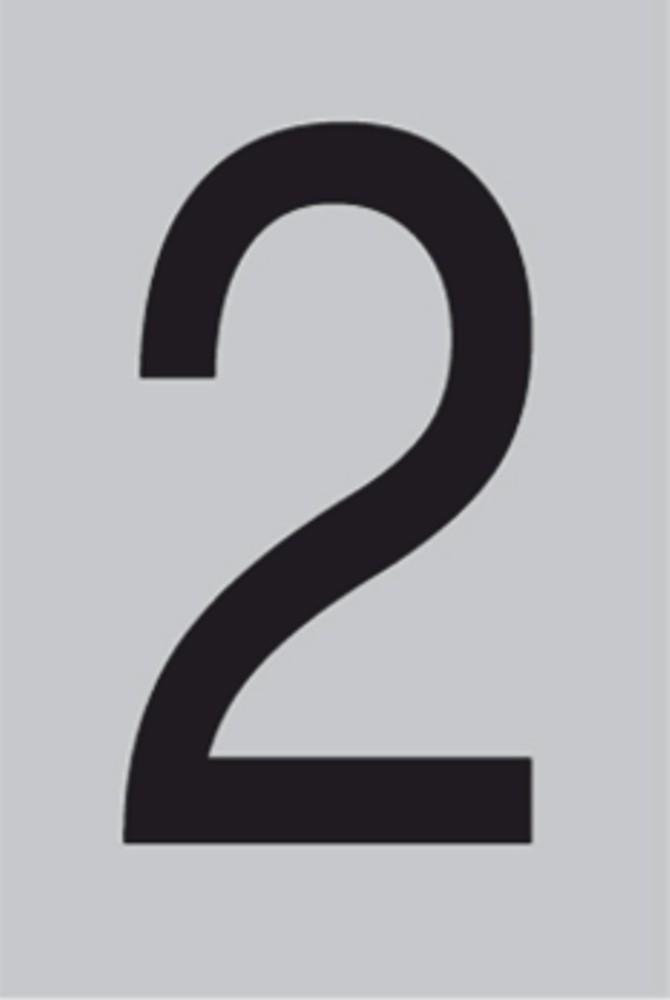 Metallziffer 2 selbstklebend 100 x 60 mm – Bild 1