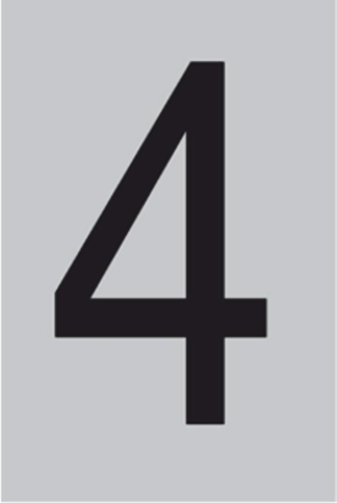 Metallziffer 4 selbstklebend 100 x 60 mm – Bild 1