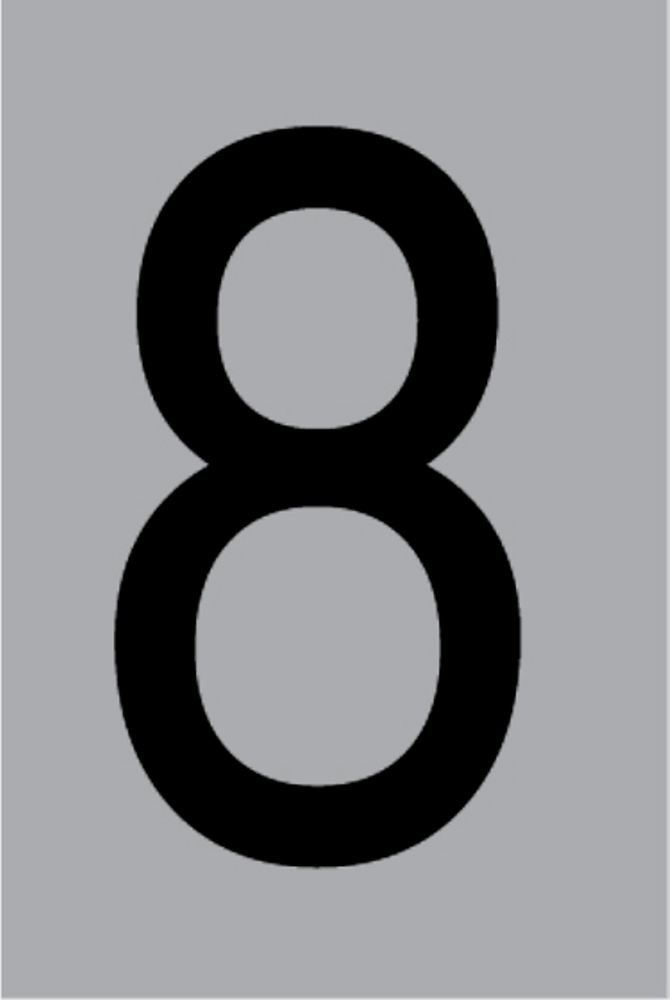 Metallziffer 8 selbstklebend 100 x 60 mm – Bild 1