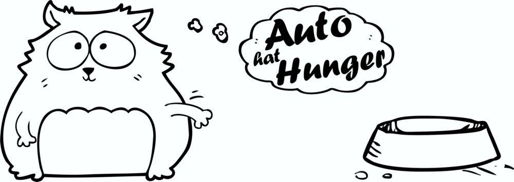Aufkleber Auto hat Hunger 70 x 190 mm – Bild 1