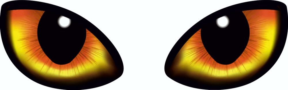 Sticker Eyes set of 2 right/left 70 x 190 mm – Bild 1