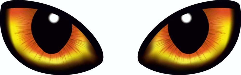 Aufkleber Augen 2er-Set rechts/links 70 x 190 mm