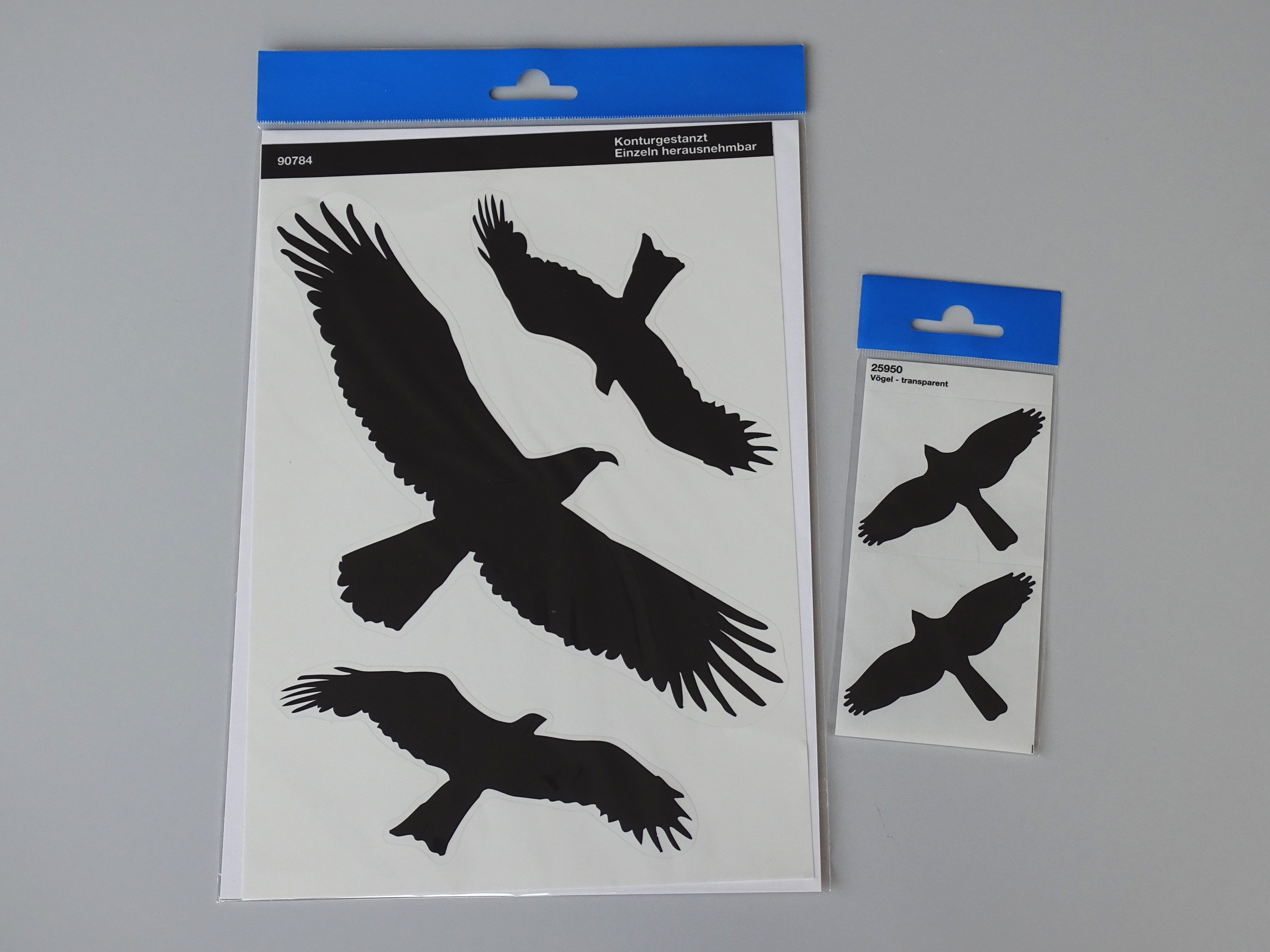 Sticker birds black 2 pieces each 115 x 290 mm – Bild 2