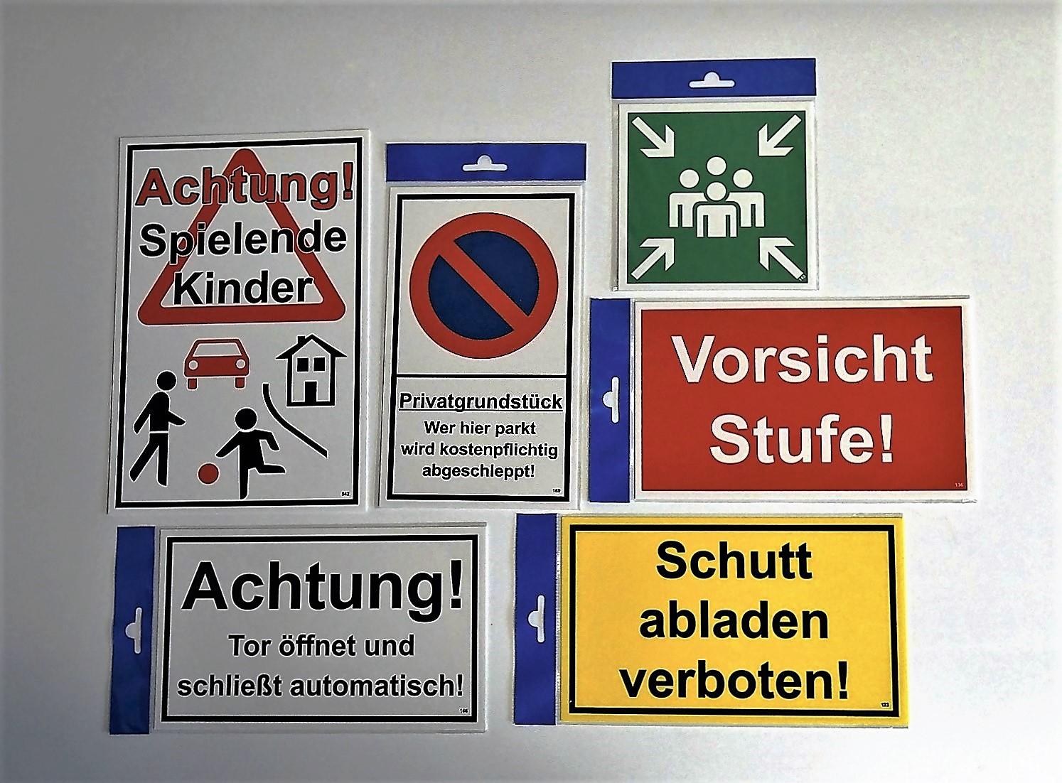 Bitte Tür geschlossen halten! 150 x 250 mm Warn- Hinweis- und Verbotsschild PST-Kunststoff – Bild 3