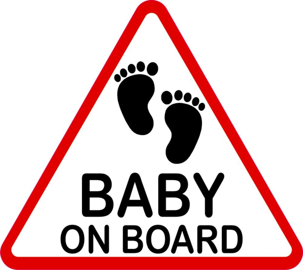 Aufkleber Baby on Board dreieckig 115 x 130 mm