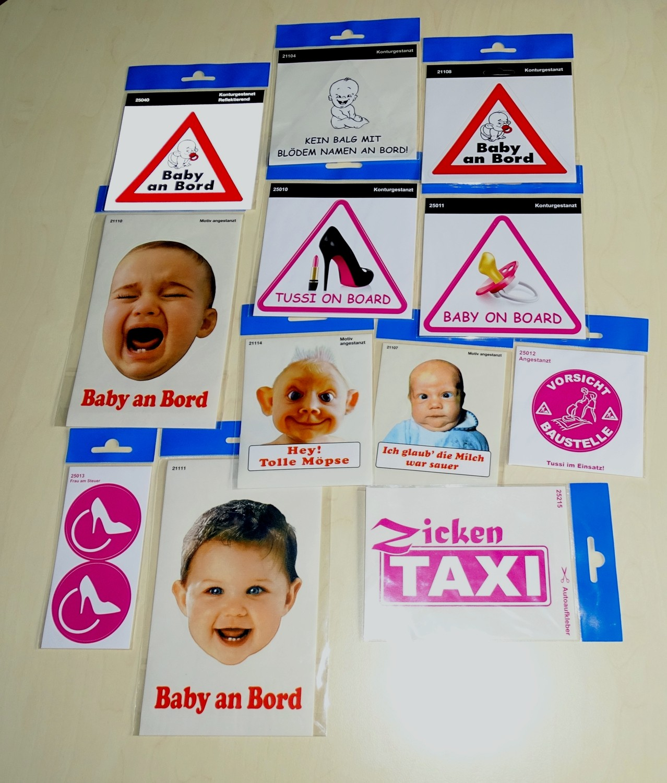 Aufkleber Baby on Board dreieckig 115 x 130 mm – Bild 2