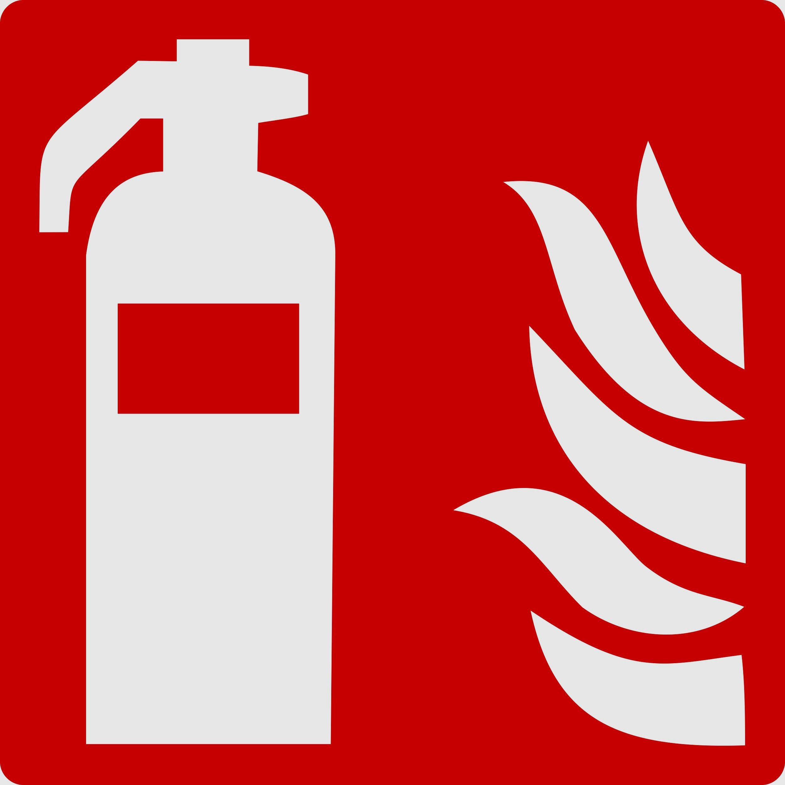 Türschild Feuerlöscher rot selbstklebend 100 x 100 mm – Bild 1