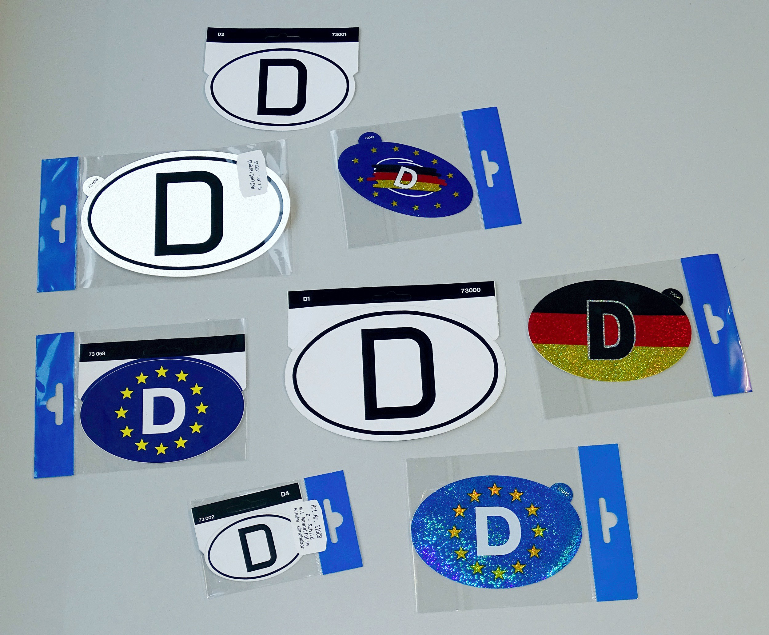 Aufkleber Deutschland Holografie mit Magnetfolie 85 x 125 mm Deutschland Fanartikel EM – Bild 2